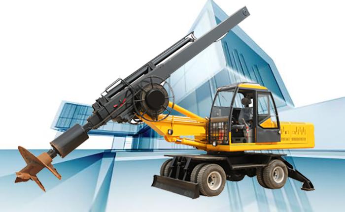 360轮式旋挖钻机采用四轮驱动马力更加强劲